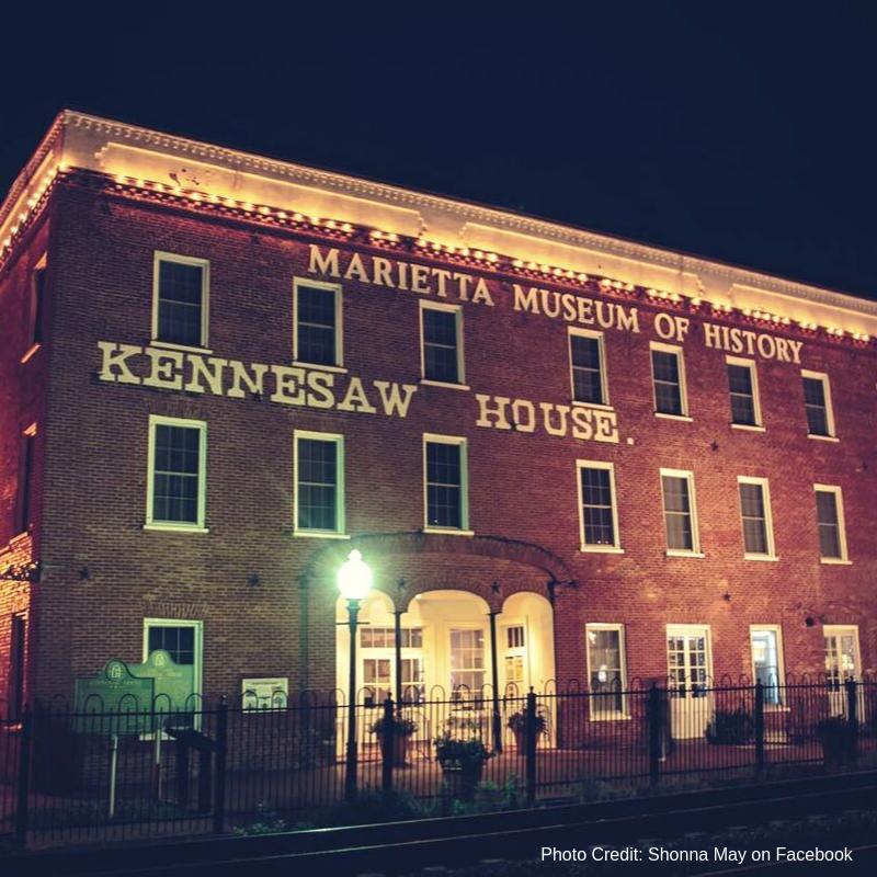 Marietta Museum of History at night