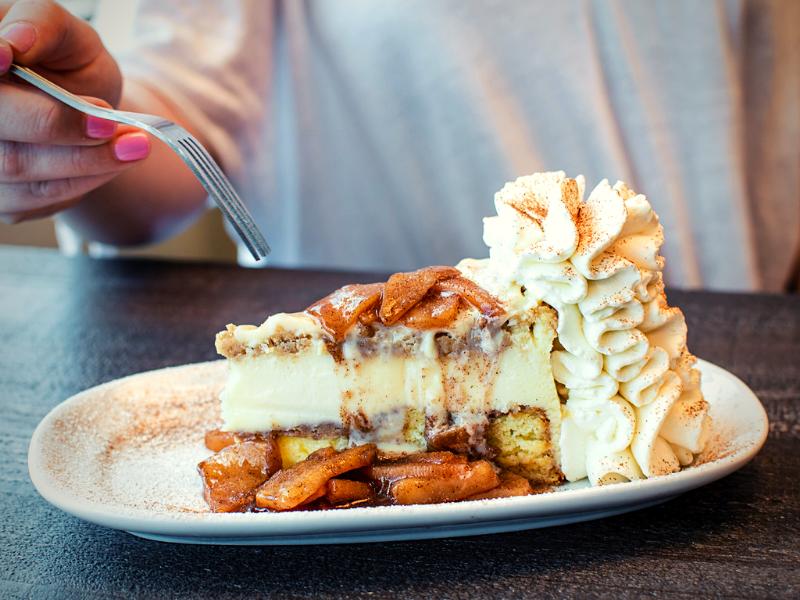 Fall Apple Cheesecake