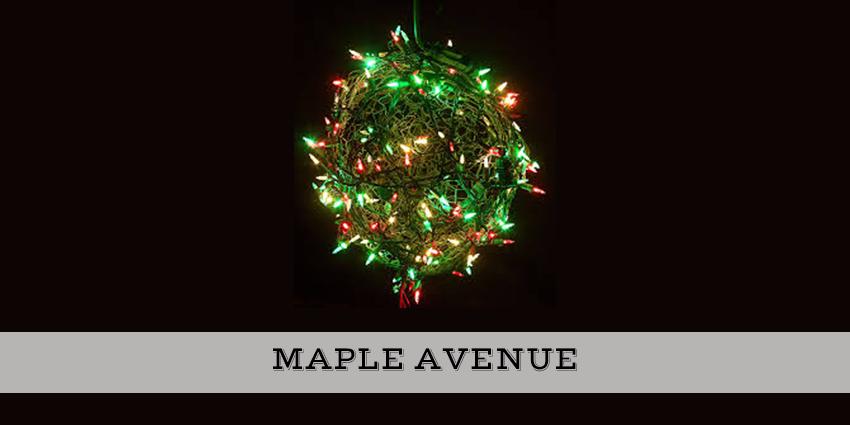 Maple Avenue Christmas light ball