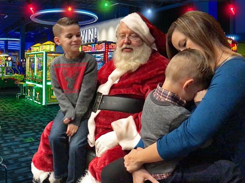 Santa dave and buster