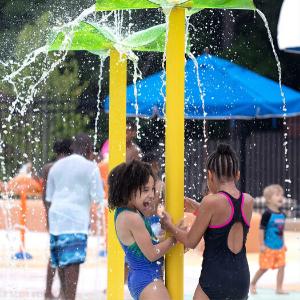spots to cool off- Elizabeth Porter Sprayground